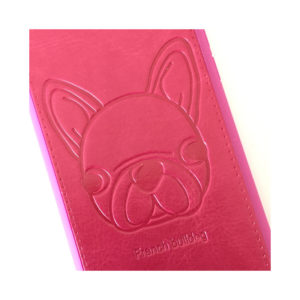 Pink iPhone Cover med Fransk Bulldog