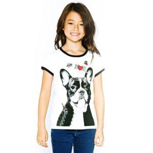 Sød Fransk Bulldog Børne T-shirt