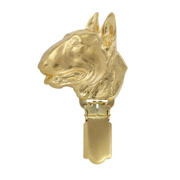 Bull Terrier guldclip til udstilling