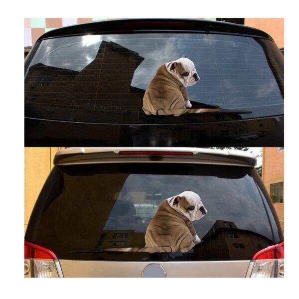 Engelsk bulldog stickers til bilen
