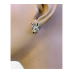 Fransk bulldog øreringe i hvid bronze