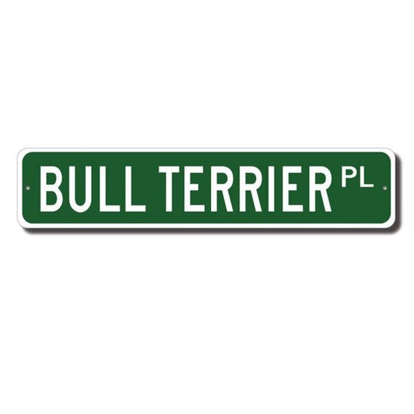 Bull Terrier gadeskilt