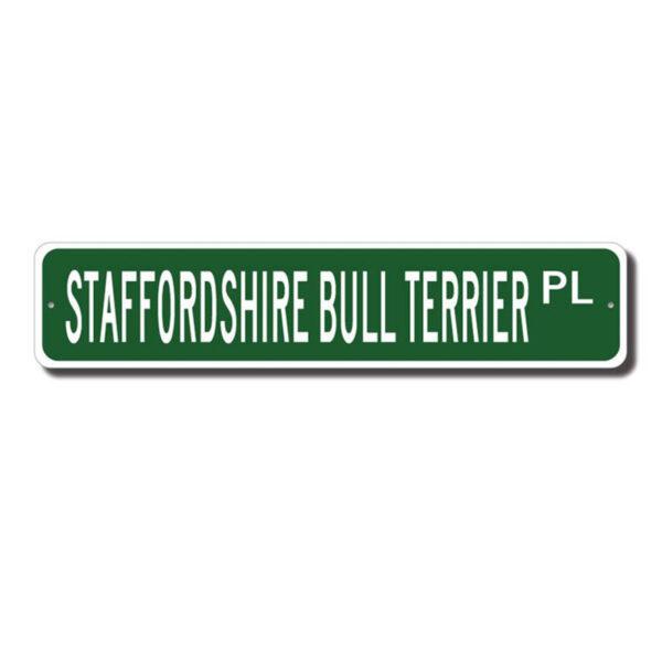 Staffordshire Bullterrier gadeskilt