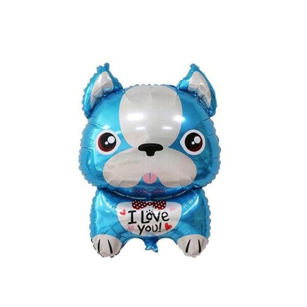 Stor Fransk Bulldog Ballon – blå