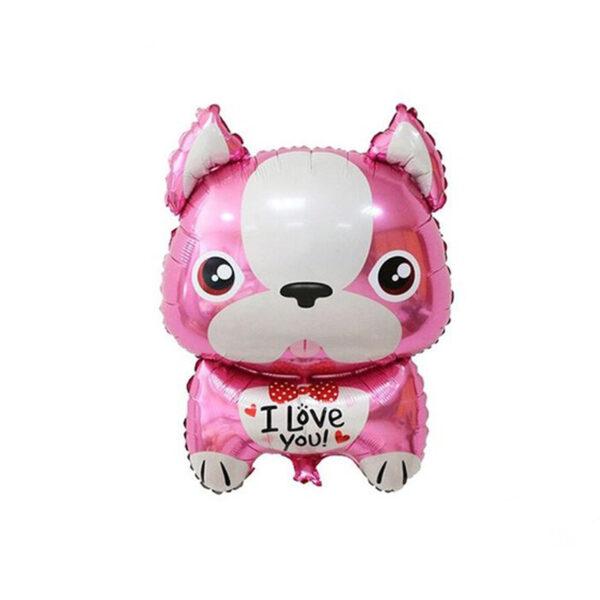 Stor Fransk Bulldog Ballon – Pink