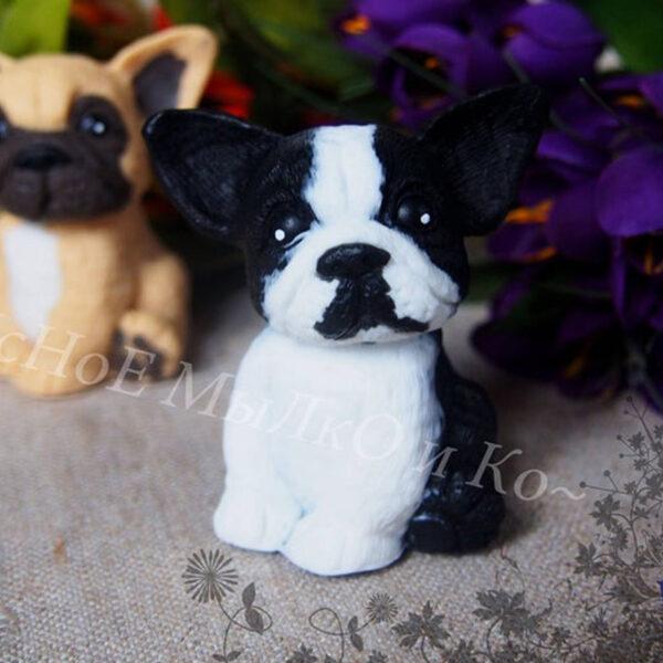Fransk Bulldog håndsæbe – Pied